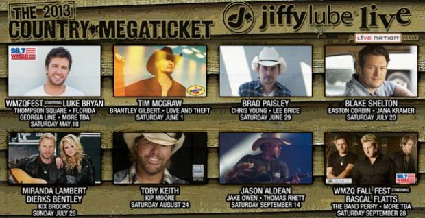 Jiffy Lube Live 2013 Country Megaticket Here!