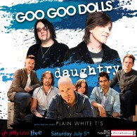 Goo Goo Dolls & Daughtry with Plain White T's at Jiffy Lube Live –  Ticket Info Here