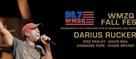 WMZQ Fall Fest with Darius Rucker. Tickets On Sale This Week!