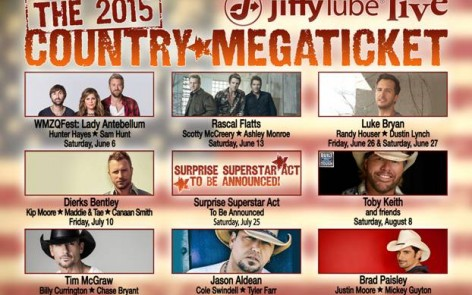 2015 Country Megaticket at Jiffy Lube Live. Dates and Ticket Info Here!