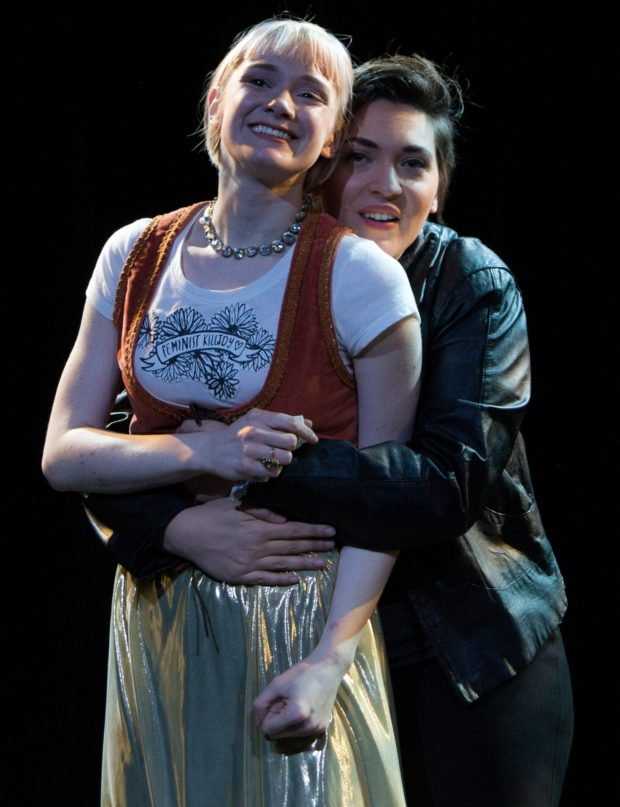 Caitlin Partridge as Imogen and Briana Manente as Posthumus (photo: PAtrick A. Lachance)